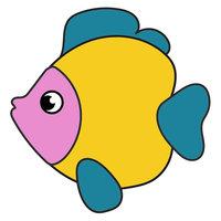 Картинка-раскраска для детей 3-4 года рыбка распечатать