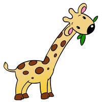 Картинка-раскраска для детей 3-4 года жираф распечатать