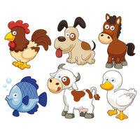 Картинка-раскраска для детей 4-5 лет животные петух ...