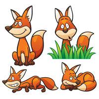 Картинка-раскраска для детей 4-5 лет забавная лиса распечатать