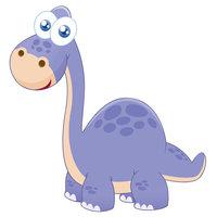 Картинка-раскраска для детей 4-5 лет динозавр с большими ...
