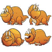 Картинка-раскраска для детей 4-5 лет динозавр трицератопс ...