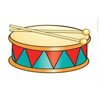 Картинка-раскраска для детей 4-5 лет барабан музыкальный ...