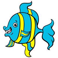 Картинка-раскраска для детей 4-5 лет рыбка морская распечатать