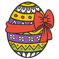 Раскраска пасха, красивое пасхальное яйцо с бантом и ...