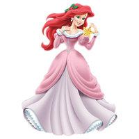 Раскраска принцесса ариэль в платье на балу для девочек ...
