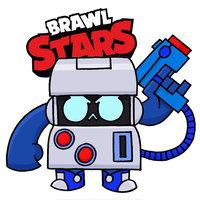 Раскраска Браво Старс робот 8 бит распечатать | Brawl Stars