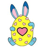 Раскраска пасха, милое пасхальное яйцо распечатать для детей