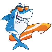 Раскраска крутая акула в очках для детей распечатать