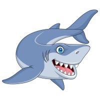 Раскраска акула добрая для детей распечатать