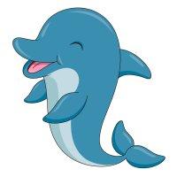 Раскраска дельфин милашка морской распечатать