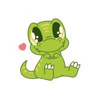 Раскраска малыш динозавр с сердечком для детей распечатать ...