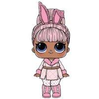 Раскраска кукла лол снежный зайчик, с ушками для девочек ...
