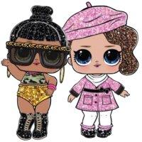 Раскраска куклы лол медовая булочка и шикарная для девочек ...