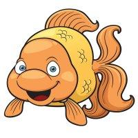 Раскраска рыба золотая рыбка распечатать