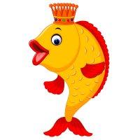 Раскраска рыба золотая рыбка из сказки распечатать