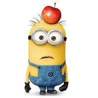 Раскраска миньоны том с яблоком на голове распечатать