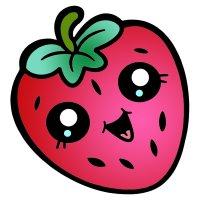 Раскраска для детей 3-4 года клубничка садовая с глазками ...