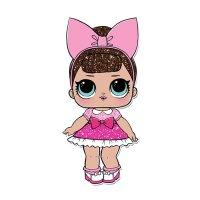 Раскраска кукла лол в платье и с бантиком на голове (fancy ...