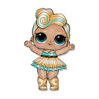 Раскраска кукла лол золотая (luxe) для девочек распечатать ...