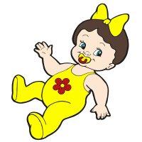 Раскраска пупсик кукла с бантиком и соской для девочек ...