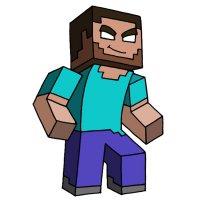 Раскраска майнкрафт скин стив распечатать   Minecraft