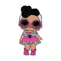 Раскраска кукла лол в очках и платье (dollface) для ...
