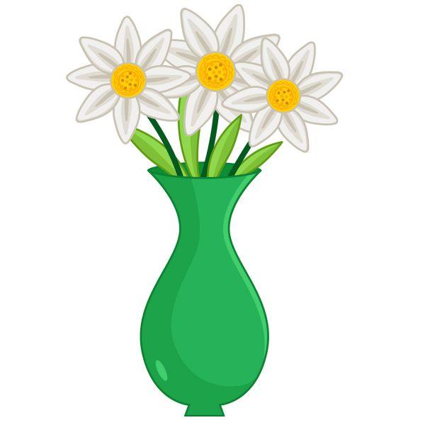 Раскраска милые ромашки в вазе для детей распечатать
