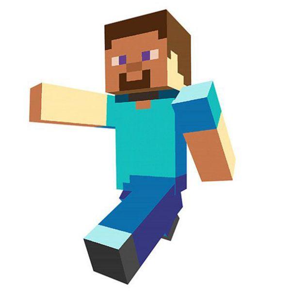 Раскраска майнкрафт стив бежит распечатать   Minecraft