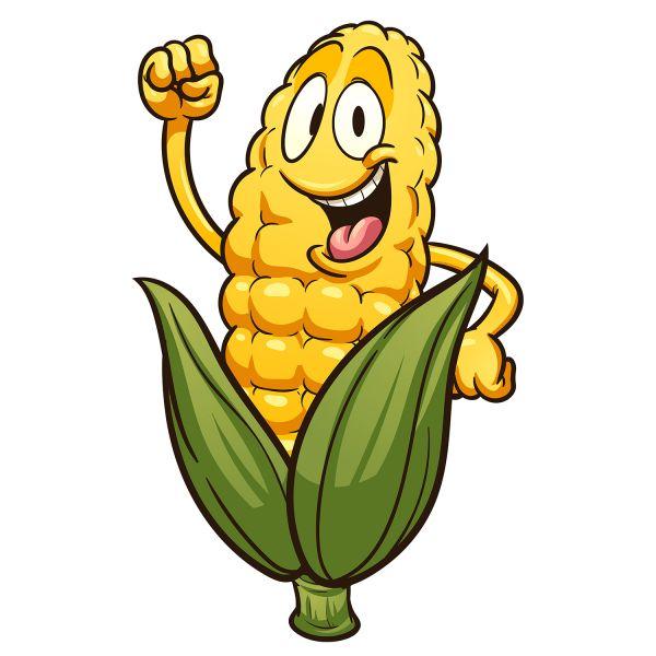 Раскраска еда кукуруза с глазками распечатать