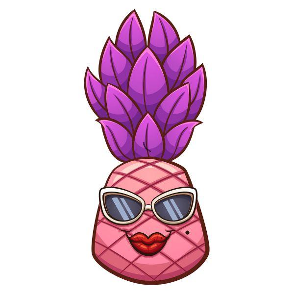 Раскраска спелый ананас девочка: фрукты, овощи, ягоды для ...