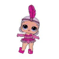 Раскраска кукла лол с пером на голове (snowbaby) для ...
