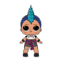 Раскраска кукла лол мальчик панк (punk boy) для девочек ...