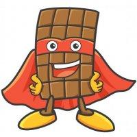 Раскраска еда вкусная шоколадка супергерой распечатать