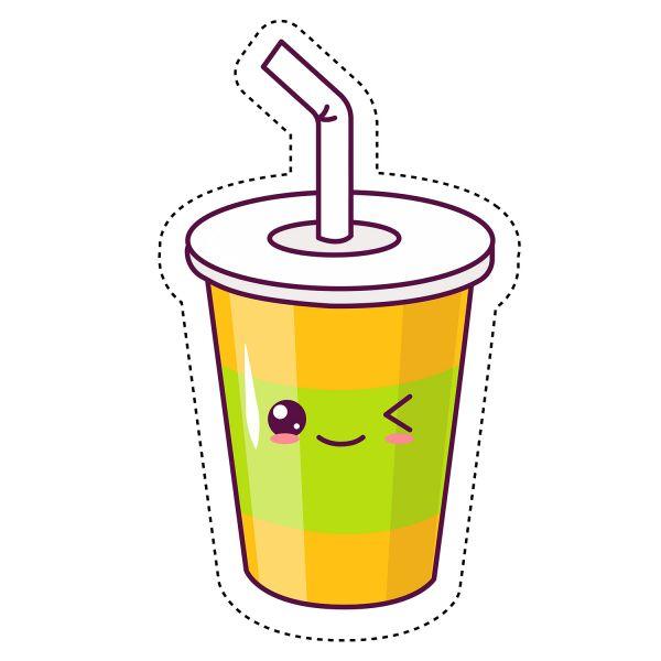 Раскраска еда напиток в стакане, сок, кола, чай, кофе ...