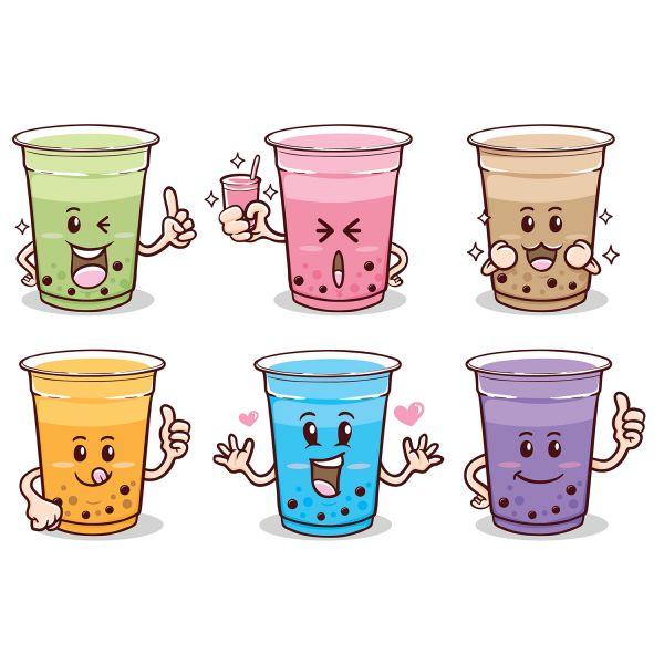 Раскраска еда эмоджи стаканчики с напитком распечатать