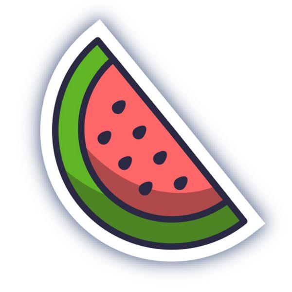 Раскраска летний арбуз: фрукты, овощи, ягоды для детей ...