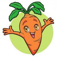 Раскраска еда морковка с глазками. овощи распечатать