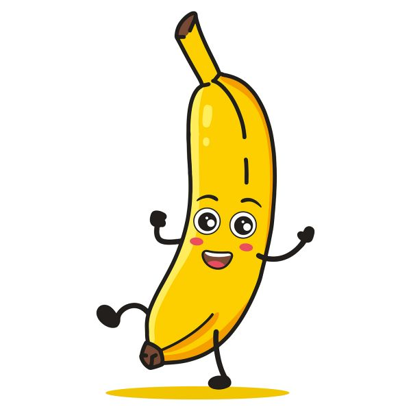 Раскраска банан с глазками: фрукты, овощи, ягоды для детей ...