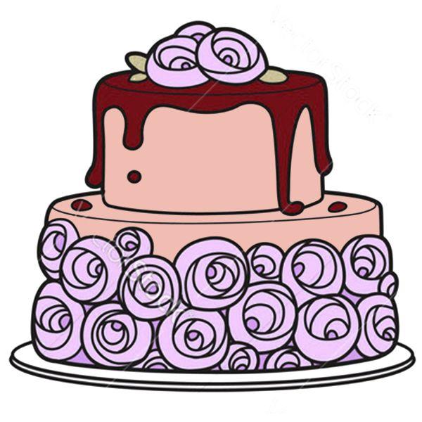 Раскраска еда большой торт с цветами распечатать