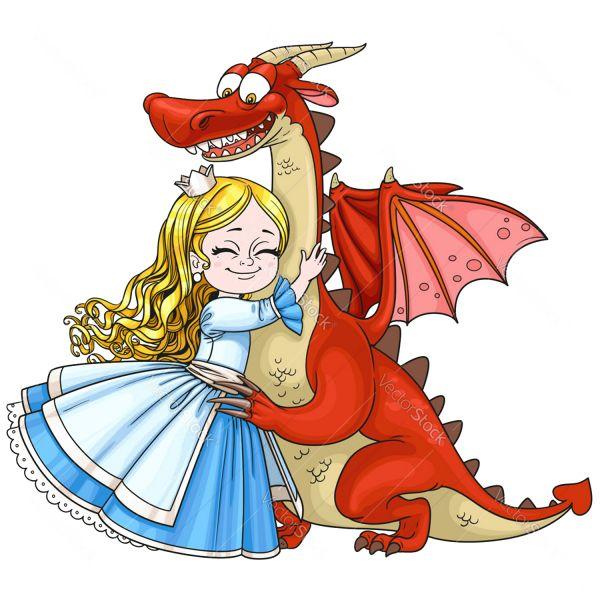Раскраска юная принцесса и дракон для девочек 12 лет ...