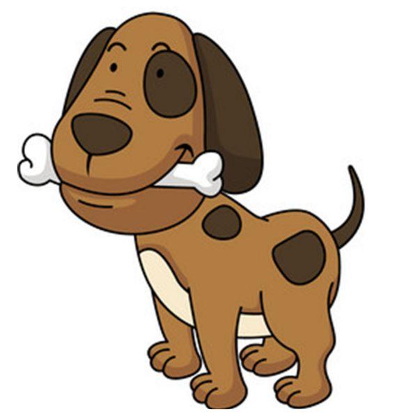 Раскраска собачка с косточкой для девочек 4-5 лет распечатать