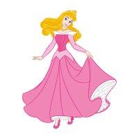 Раскраска принцесса аврора в розовом платье дисней для ...