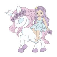 Раскраска единорог с принцессой для девочек распечатать