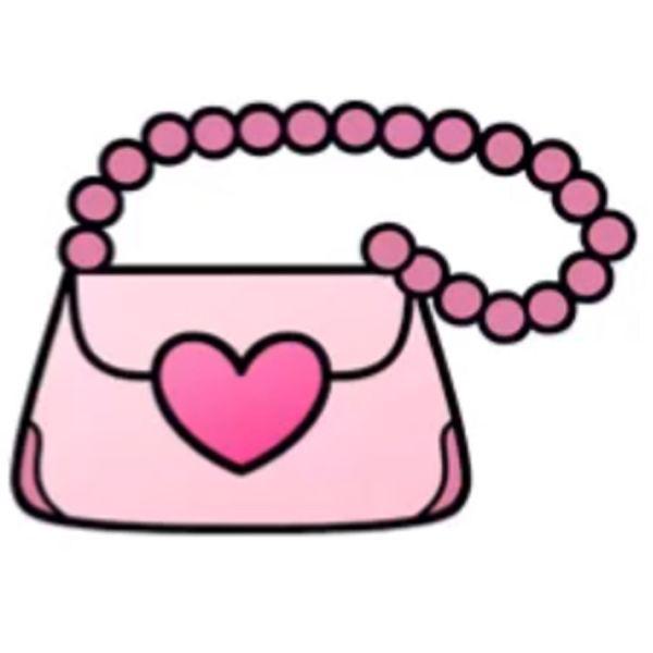 Раскраска модная сумочка, клатч для девочек 4-5 лет ...