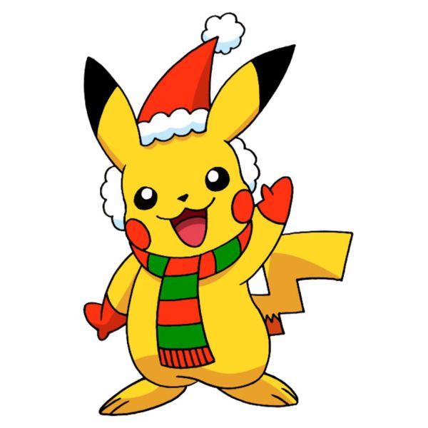 Раскраска Пикачу новогодний в шапке распечатать бесплатно ...