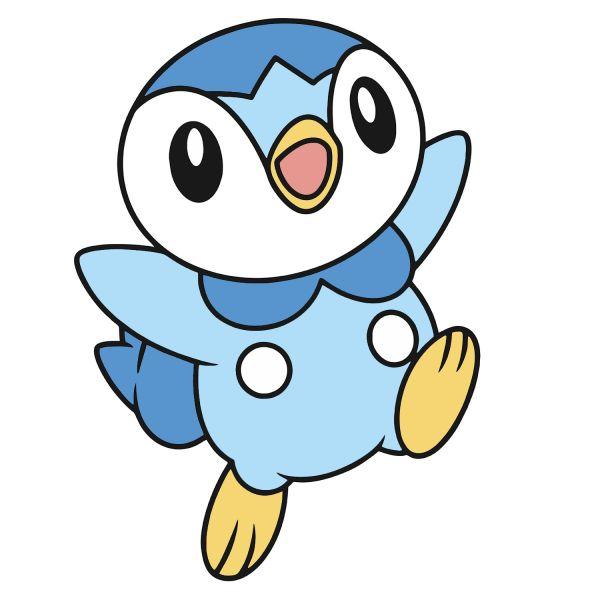 Раскраска покемон милый пиплуп распечатать бесплатно | Pokemon