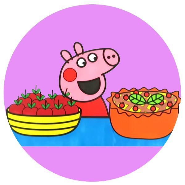 Раскраска Свинка Пеппа, с овощами в хорошем качестве ...