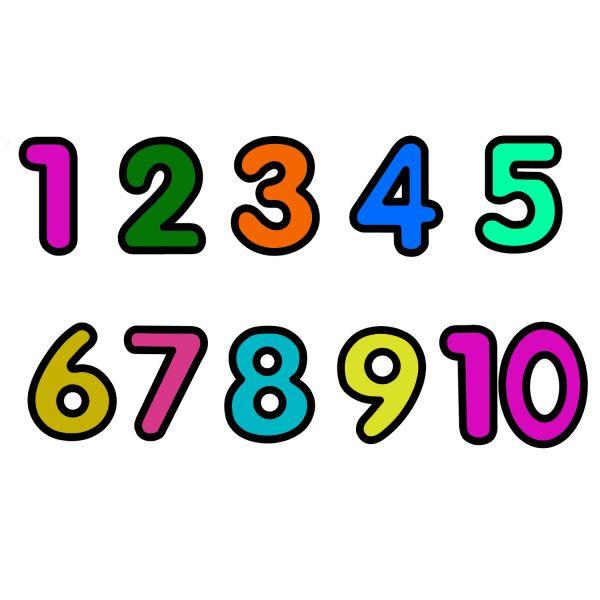 Раскраска для детей 3-4 года цифры от 1 до 10 распечатать