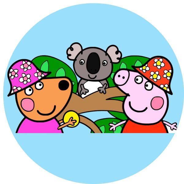 Раскраска Свинка Пеппа, с кенгуру кайли в австралии в ...